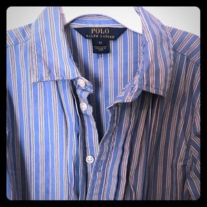 Girls Polo by Ralph Lauren Striped Button Down